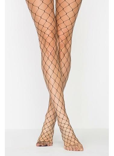 Penti Kadın Siyah Buyuk Fıle  Külotlu Çorap PCFPBUYK20SK Siyah